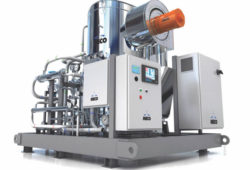Vapor compression water distiller
