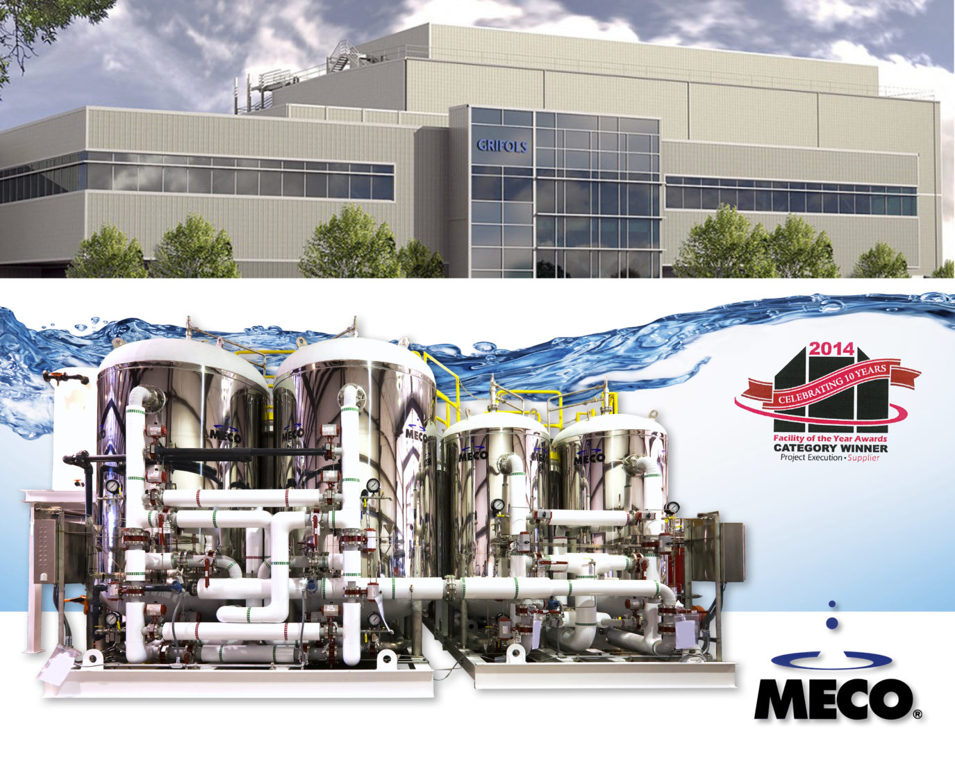 MECO Named a Major Equipment Supplier for ISPE's Annual Facility of the Year Award