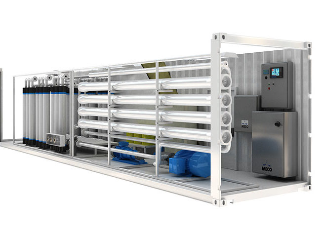 Meco Containerized Reverse Osmosis Packaged System Mcro