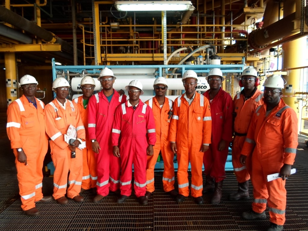 Employees at Plant in West Africa