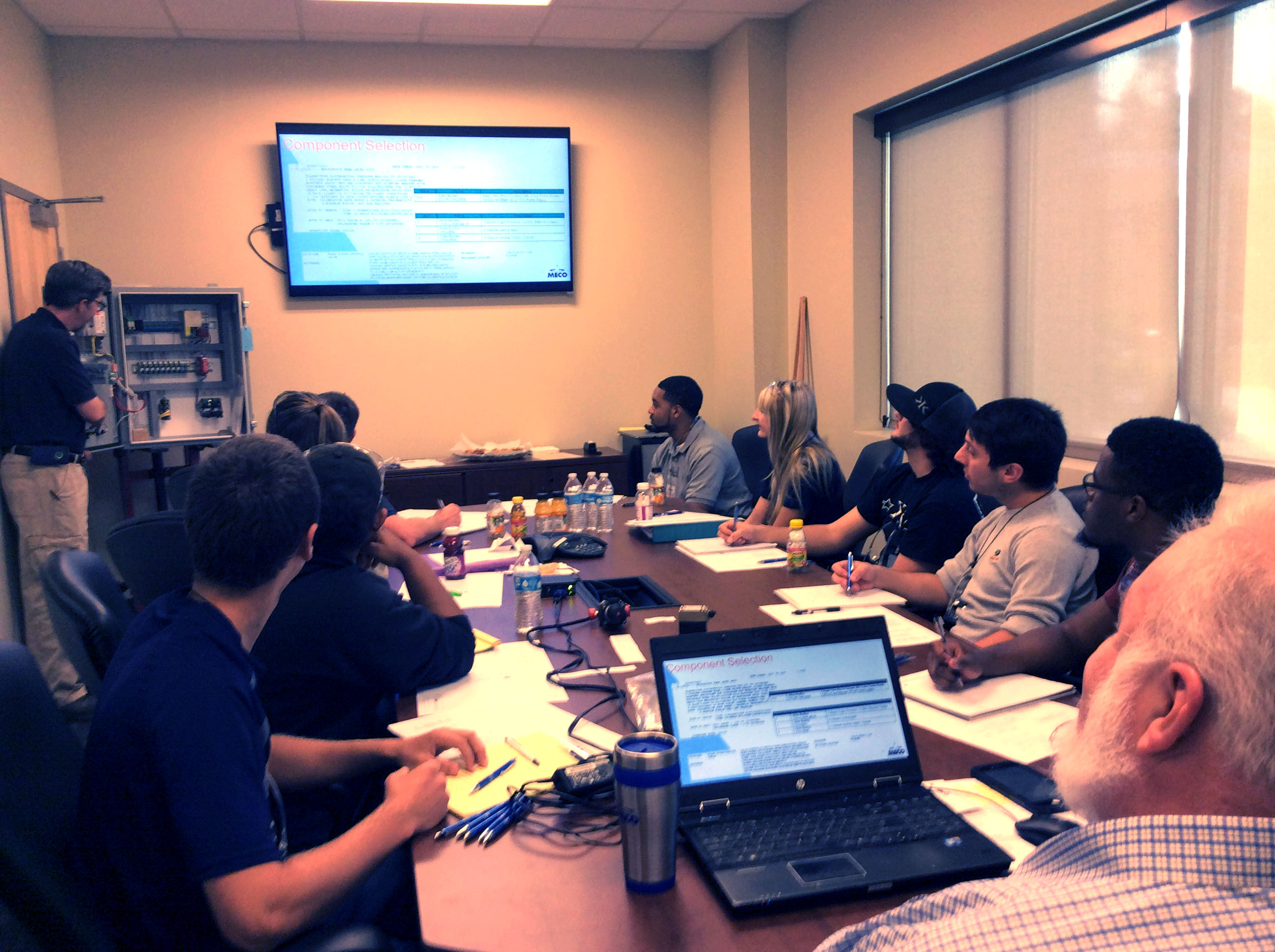 MECO Hosts Future Electrical Engineers from Area College