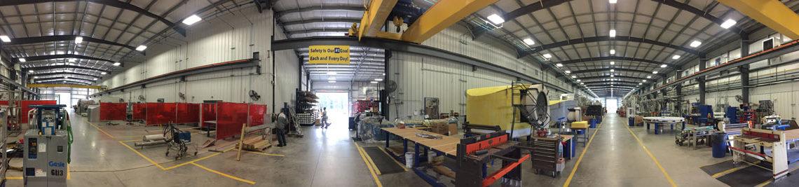 Panoramic of MECO facility interior