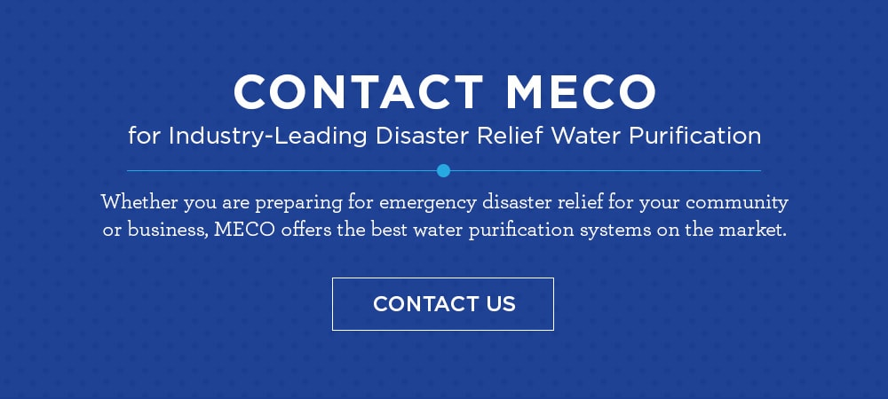 leader in disaster relief water