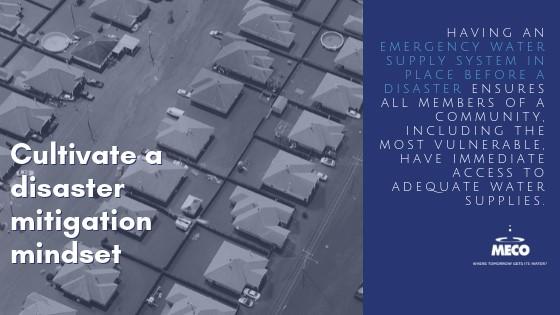 cultivate a disaster mitigation mindset