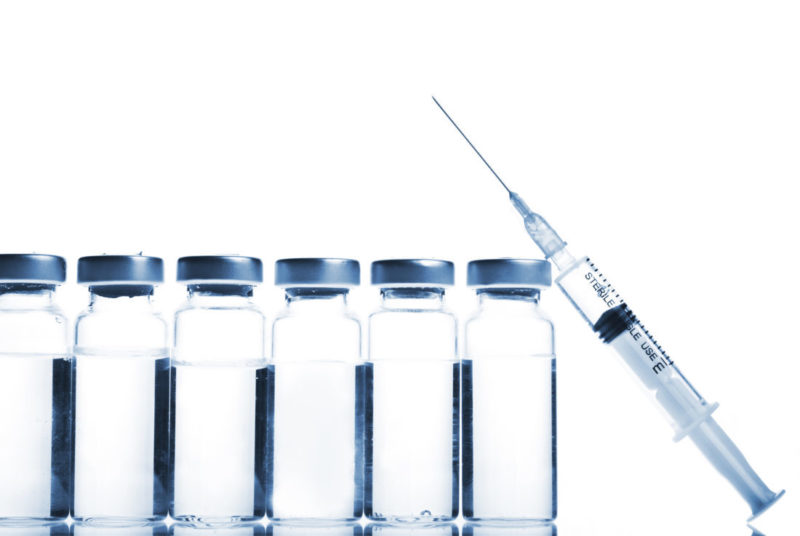syringe and clean water WFI